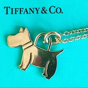RARE Tiffany Terrier Dog Puppy Necklace & Chain 😍